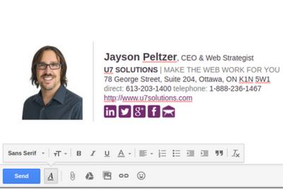 Professional business e-mail signature